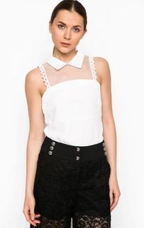 Белая блуза с отложным воротником Pinko