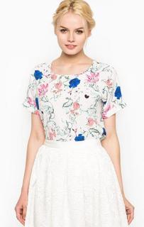 Белая блуза с цветочным принтом Darling