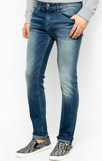 Синие джинсы скинни Calvin Klein Jeans