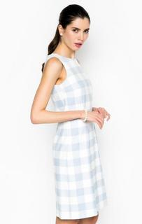 Голубое платье в клетку More & More
