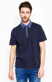 Синяя футболка поло Lerros