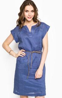 Синее платье средней длины 18 Crr81 Cerruti