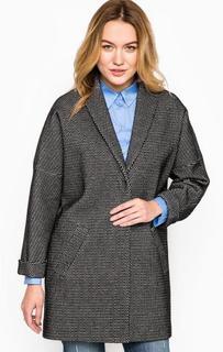 Серое пальто из хлопка на кнопках More & More