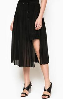 Черная юбка асимметричного кроя Pinko