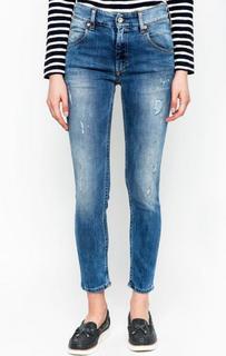 Укороченные джинсы с сильными потертостями Marc Opolo