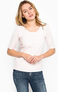 Розовая футболка из хлопка More & More