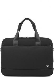 Черная сумка с отделением для ноутбука Armani Jeans