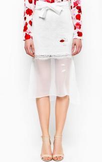 Белая юбка с нашивками Miss Sixty