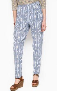 Зауженные синие брюки из хлопка Pepe Jeans