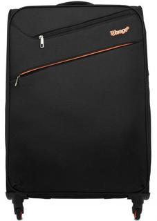 Черный текстильный чемодан на колесах Verage
