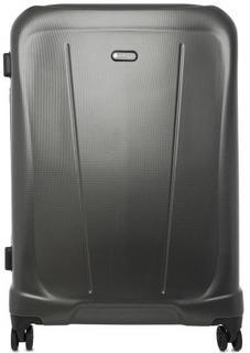Серый пластиковый чемодан на колесах Verage