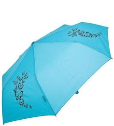 """Голубой зонт с системой """"антиветер"""" Doppler"""