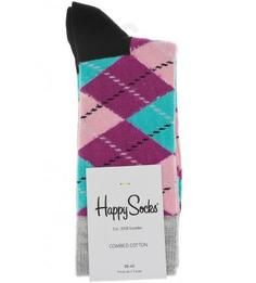 Разноцветные носки в клетку Happy Socks