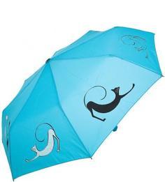 Голубой складной зонт Doppler