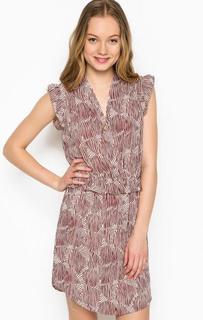Бордовое платье с кулоном Maison Scotch