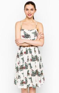 Бежевое платье на тонких бретелях Sugarhill Boutique