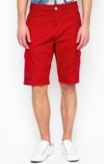 Красные хлопковые шорты с карманами по бокам Armani Jeans