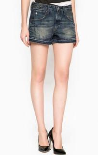 Короткие шорты с заломами и потертостями G Star RAW