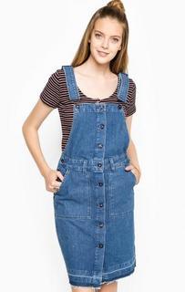 Синий джинсовый комбинезон-сарафан Pepe Jeans