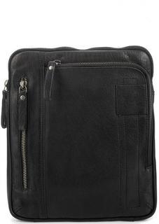 Черная кожаная сумка Strellson