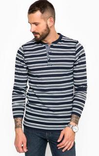 Хлопковая футболка в полоску на пуговицах Tommy Hilfiger