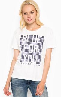 Хлопковая футболка с груглым вырезом Hilfiger Denim