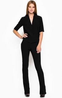 Черный комбинезон с глубоким вырезом Trussardi Jeans
