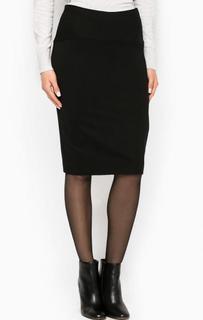 Однотонная юбка-карандаш из вискозы More & More