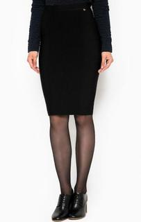 Черная юбка-карандаш из вискозы Liu Jo