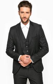 Черный пиджак в полоску Marciano Guess