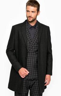 Пальто из шерсти с отложным воротником Antony Morato