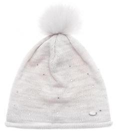 Вязаная шапка с отделкой стразами Capo
