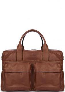 Кожаная сумка со съемным ремнем Gianni Conti