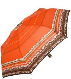 """Оранжевый складной зонт с системой """"двойной антиветер"""" Doppler"""