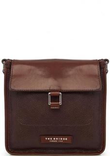 Кожаная сумка через плечо коричневого цвета THE Bridge
