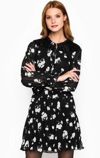 Черное платье с цветочным принтом Silvian Heach