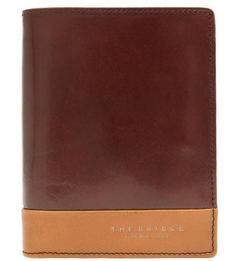 Коричневое портмоне из натуральной кожи THE Bridge