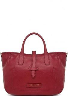 Бордовая сумка из натуральной кожи THE Bridge