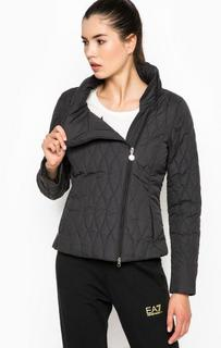 Демисезонная куртка с косой молнией EA7