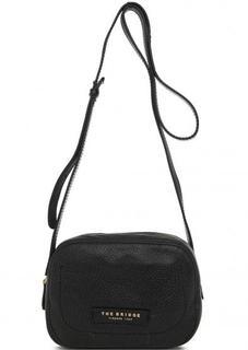 Черная сумка через плечо из натуральной кожи THE Bridge