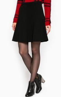 Черная юбка из вискозы и нейлона More & More