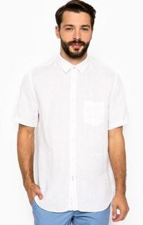 Белая льняная рубашка с карманом 18 Crr81 Cerruti
