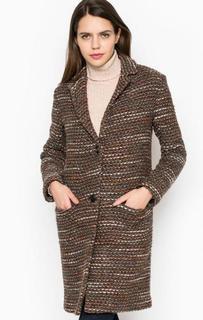 Пальто из полиакрила и шерсти на пуговицах Cinque
