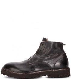 Зимние меховые ботинки на шнуровке Moma