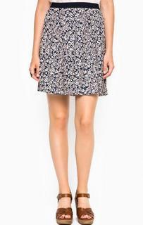 Короткая юбка с цветочным принтом Tom Tailor Denim