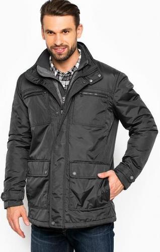 Серая куртка с ветрозащитной вставкой