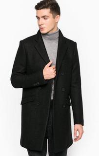 Черное двубортное пальто Antony Morato
