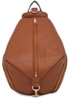 Коричневый рюкзак из натуральной кожи Rebecca Minkoff