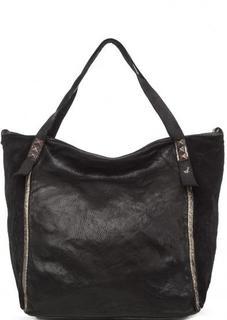 Кожаная сумка со съемным плечевым ремнем Campomaggi