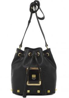 Маленькая черная сумка на кулиске Piero Guidi